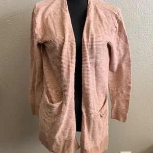 Madewell open front cardigan with pockets size XS